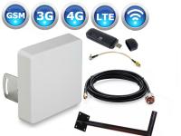 Комплект 4G Huawei E8372 + широкополосная антенна Kroks KP15