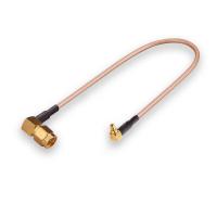 Пигтейл (кабельная сборка) MMCX- SMA(male) угловой
