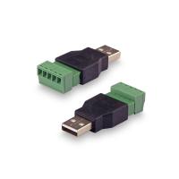 Переходник KROKS USB(male) - клеммная колодка винтовая(папа)