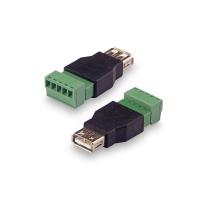 Переходник KROKS USB(female) - клеммная колодка винтовая(мама)