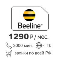 Безлимитный интернет Билайн BLUE 1290 руб./мес.