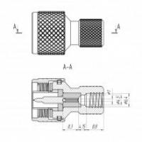 Разъем N(male) - накручивающийся на кабель RG6, SAT703