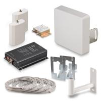 Купить в Москве комплект усиления KROKS KRD-900-2 сигнала сотовой связи 2G GSM900 и 3G UMTS900 усилением 70 dBi в интернет-магазине MyAntenna.ru