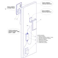 Схема установки комплекта усиления KROKS KRD-900-2