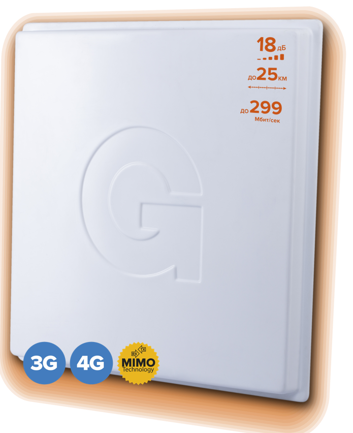 GELLAN FullBand-18M BOX - Внешняя панельная 3G/4G MIMO антенна с гермобоксом